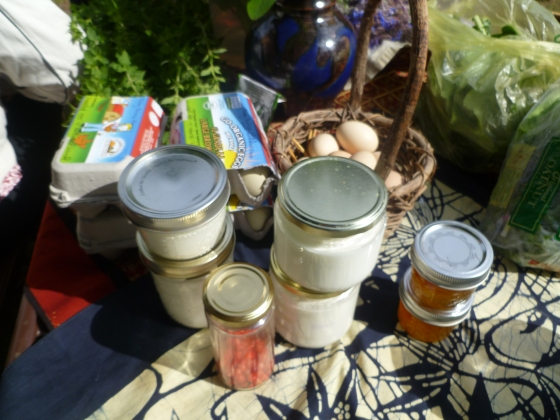 Some of the offerings at our first Potluck in the Park