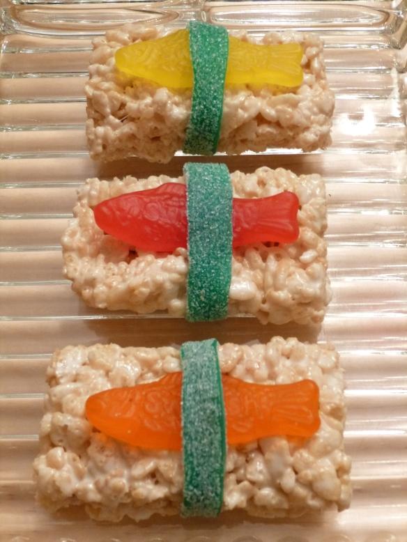 Crispy Marshmallow Rice Sushi © Rebecca Rockefeller