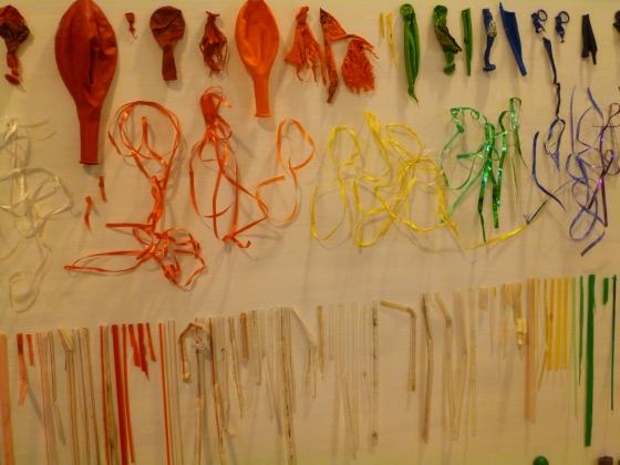 Selection of Balloons, Ribbons, and Plastic Straws Found on Bainbridge Island, WA Beaches