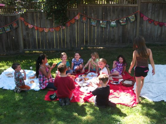 Back Yard Birthday Party Bunting