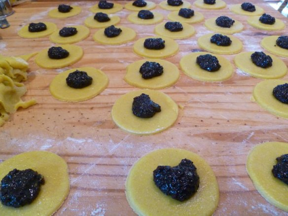 GF Hamantaschen filled and ready for pinching © Rebecca Rockefeller