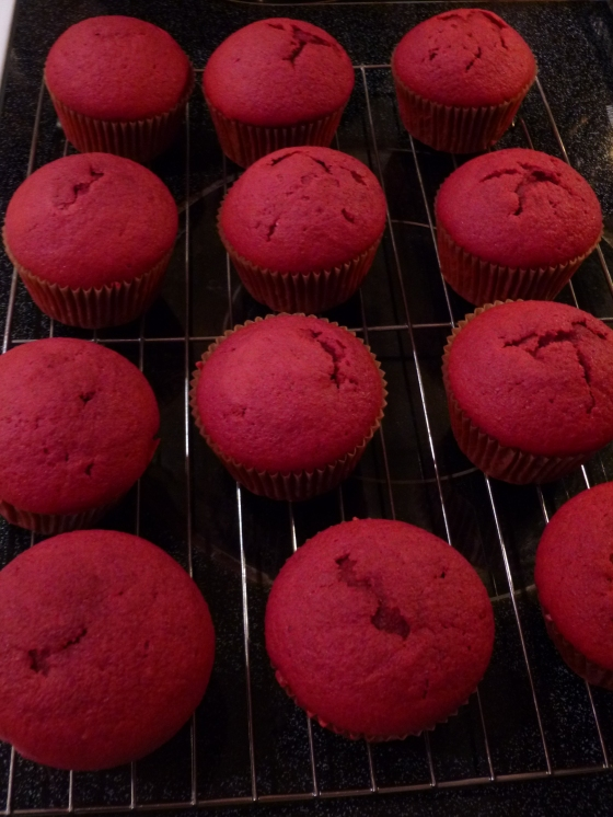 Natural Red Velvet Cupcakes, Fresh from the Oven