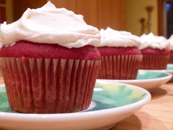 Natural Red Velvet Cupcakes