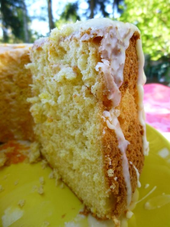 GF Orange Chiffon Cake, Inside View