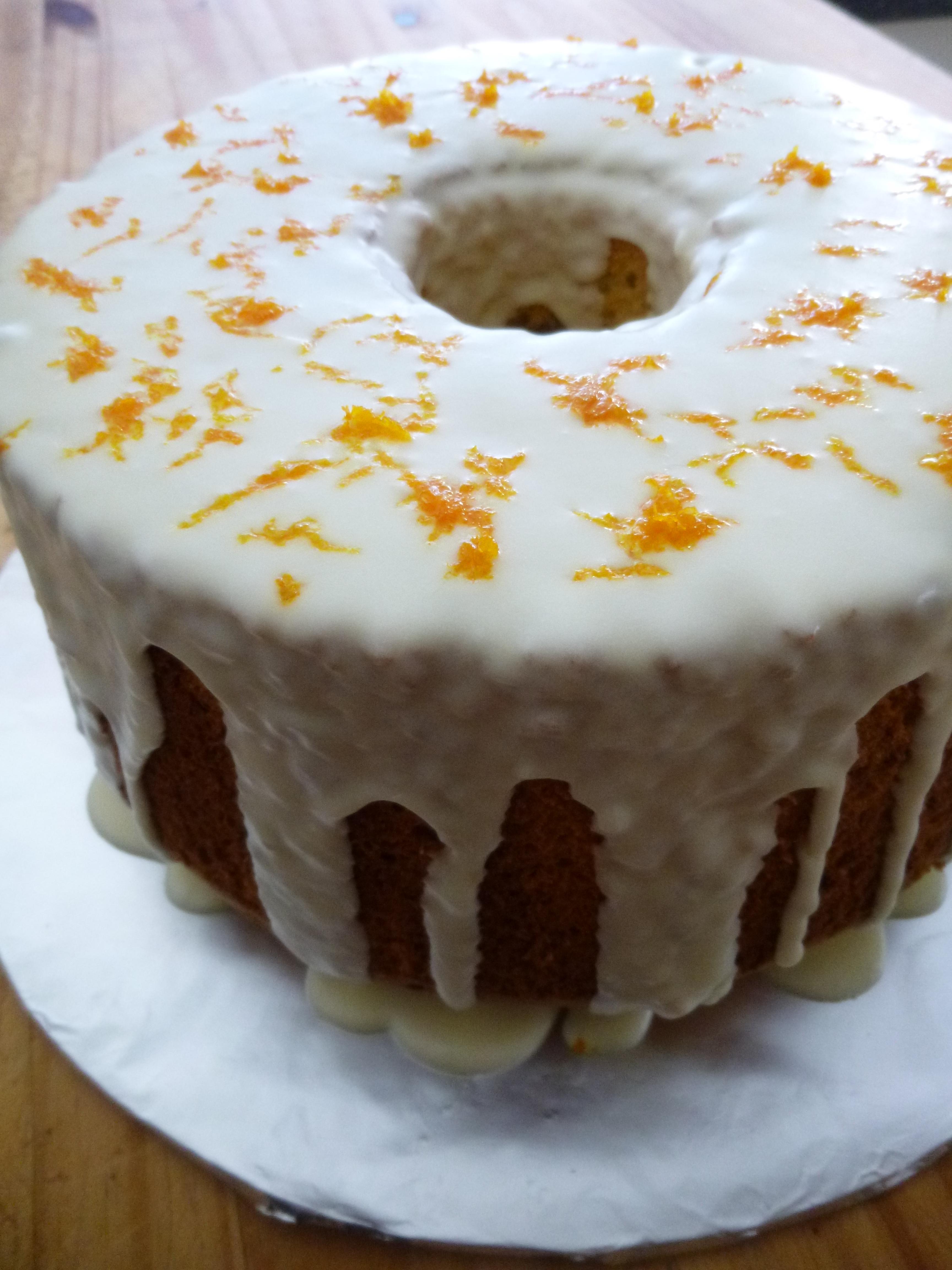 Gluten-Free Orange Chiffon Cake with Creamy Orange Glaze