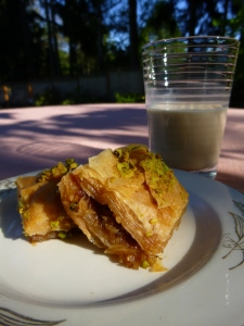 baklava and cold coffee © Rebecca Rockefeller