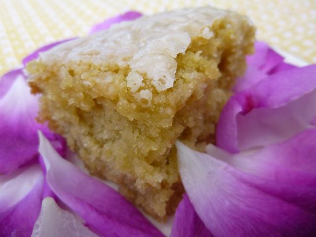 Lemon Rose Sourdough Cake