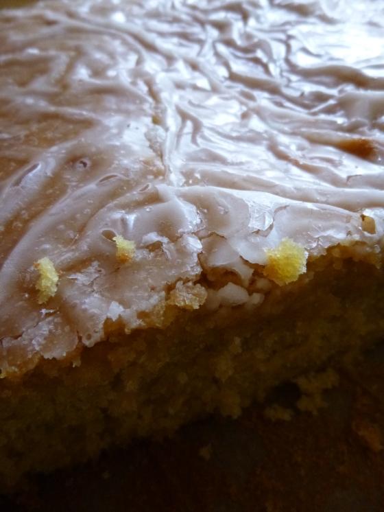 Lemon Rose Icing on Lemon Sourdough Cake
